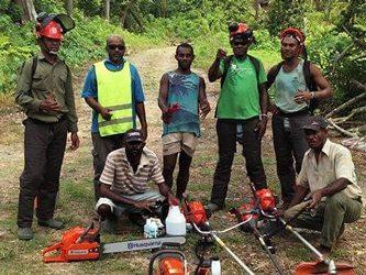 Fijiana Cacao farmers receiving equipments