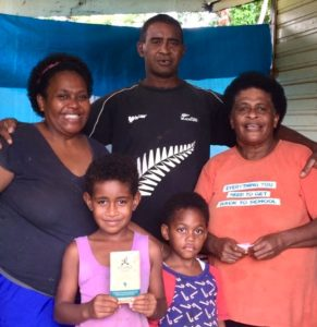 Fijiana cacao chocolate with Fiji farmer family